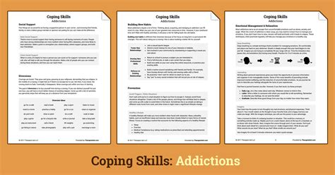 Coping Skills Addictions (worksheet)  Therapist Aid