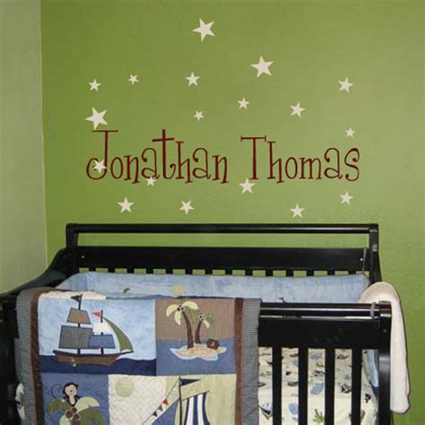 wall name decals for nursery thenurseries