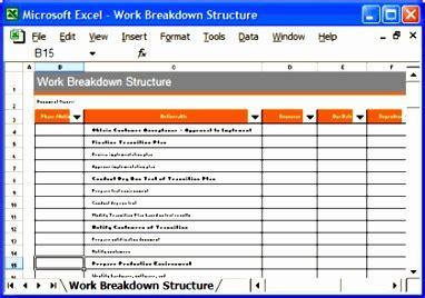 wbs template excel  exceltemplates exceltemplates