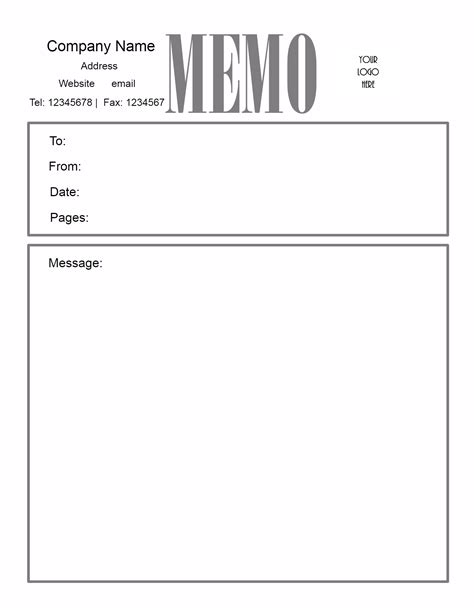 Template For Writing A Memo by Free Microsoft Word Memo Template