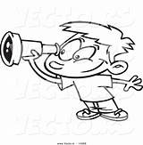 Telescope Cartoon Coloring Boy Outline Using Smiling Vbs Toonaday Vecto Rs Comptons sketch template