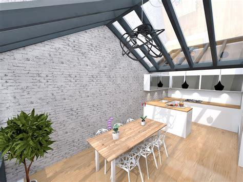 veranda extension cuisine extension sous verrière maison quartier mouzaia agence avous