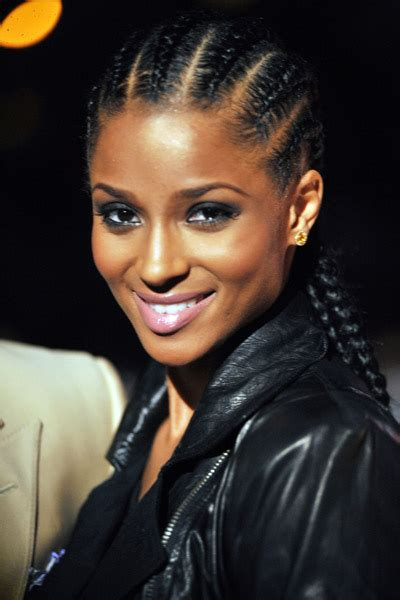 Ciara Cornrow Hairstyle by Weekend Style Guide Corn Rows Tattle Tailzz
