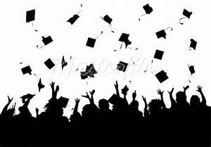 Graduation Caps In The Air Black And White | www.pixshark ...