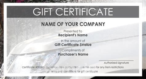 print   gift certificates  easy templates