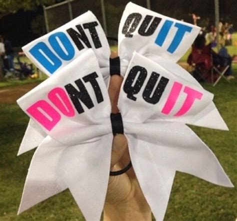 Don't Quit Cheer Bows