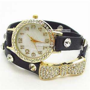 Vintage Uhren Damen : damen vintage armbanduhr leder bowknot bracelet strass kette uhren uhr watches ~ Watch28wear.com Haus und Dekorationen