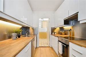 Cuisine Bois Massif : plan de travail en bois massif chaleureux moderne et ~ Premium-room.com Idées de Décoration