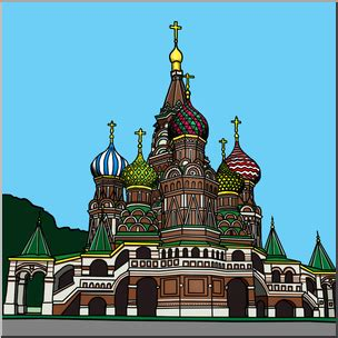 foto de Clip Art: St Basil's Cathedral Color I abcteach com