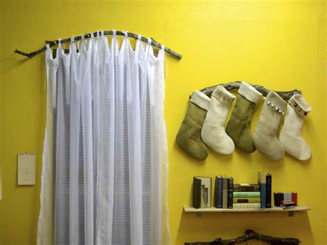 decoration high quality branch curtain rod with wall