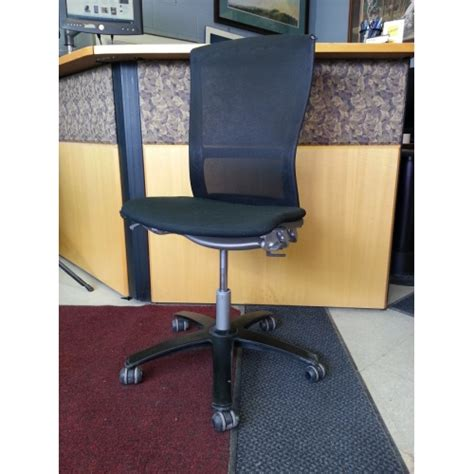knoll swivel black aluminum office chair without arms allsold ca buy sell used