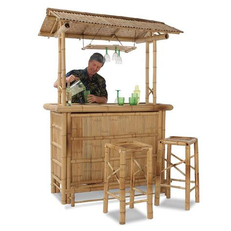 Bamboo Tiki Bar Plans by Genuine Bamboo Tiki Bar
