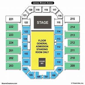 James Brown Arena Seating Diagram