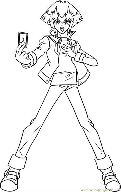draw jaden step  coloring page  yu gi