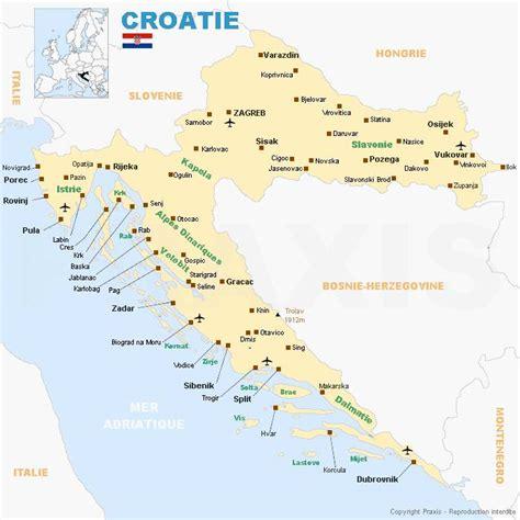 Carte de la Croatie - Cartes et informations sur la Croatie