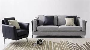 Canapé De Salon : salon canape fauteuil tissu id es de d coration int rieure french decor ~ Teatrodelosmanantiales.com Idées de Décoration