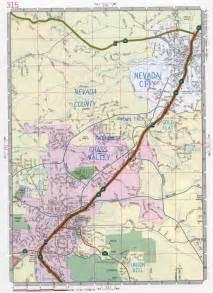 California and Nevada Road Map