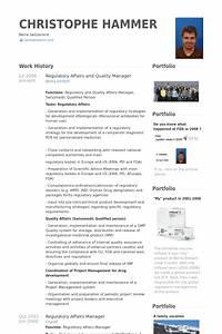 Quality manager resume samples visualcv resume samples for Pharmaceutical regulatory affairs resume sample