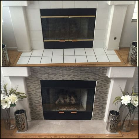 Update Your Decor With This Gray Brick Peel And Stick Wallpaper by Diy Fireplace Makeover 100 Smart Tiles In Muretto
