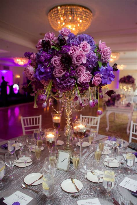 a regal purple california wedding from the youngrens wedding ideas purple wedding tables