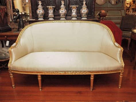 canapé salé louis xvi gilt wood canape for sale at 1stdibs