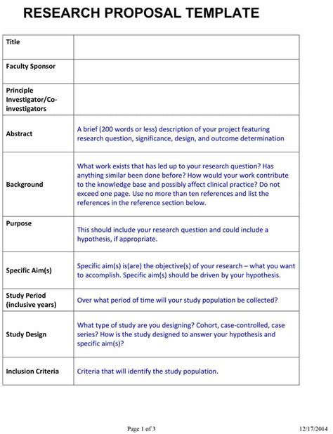 research template research for faculty position