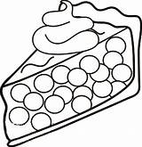 Pie Cherry Coloring Drawing Pages Getdrawings Printable Getcolorings sketch template