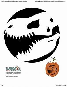 Dinosaur, Pumpkin, Stencil, -, Pumpkin, Pattern, -, Pumpkin, Template