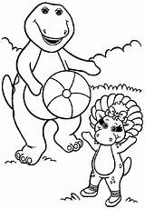Coloring Barney Pages Friends Printable Sheets Bj Popular Getcoloringpages Coloringhome sketch template