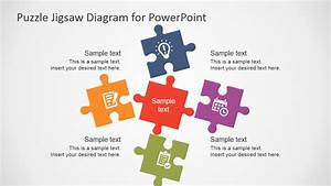 5 Piece Puzzle Template For Powerpoint