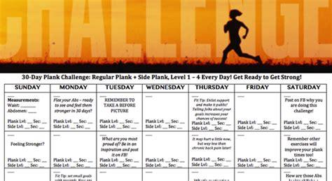 day plank challenge health