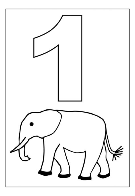 printable number coloring pages  kids