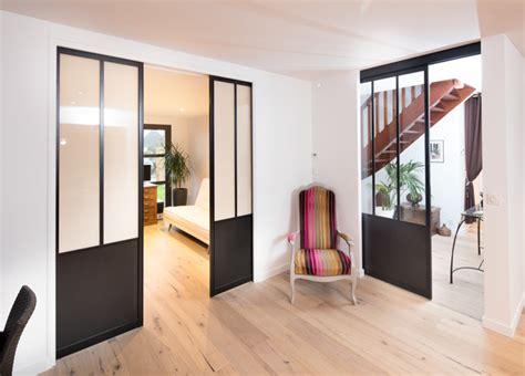 verriere dans une cuisine portes coulissantes style atelier sur mesure