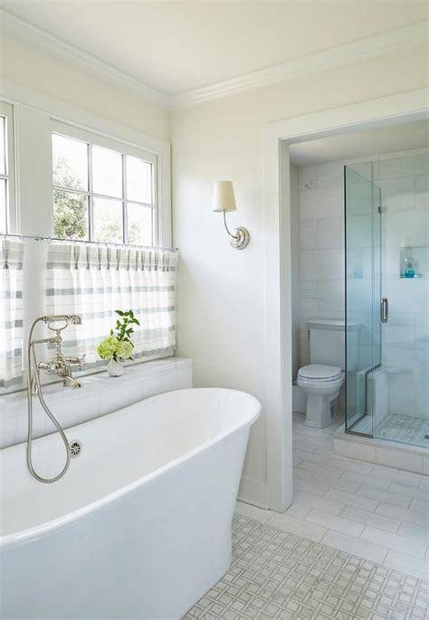 long niche  bathtub transitional bathroom