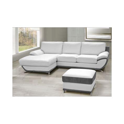 canapé d angle fabrication française canapé d 39 angle 2 places en cuir de luxe et tissu beverly
