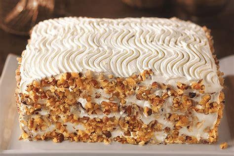 bakery style carrot  walnut cake recipe kraft recipes