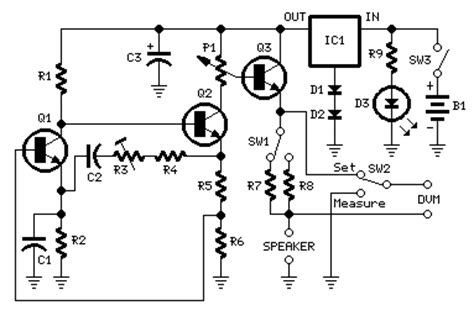 Simple Meter Impedance Speaker Circuit Diagram