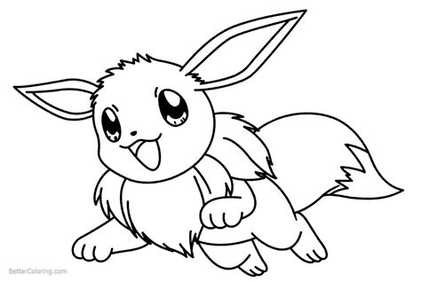 eevee coloring pages eevee coloring pages jumping free printable coloring pages
