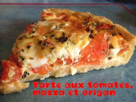 tarte tomates mozzarella et origan cooking
