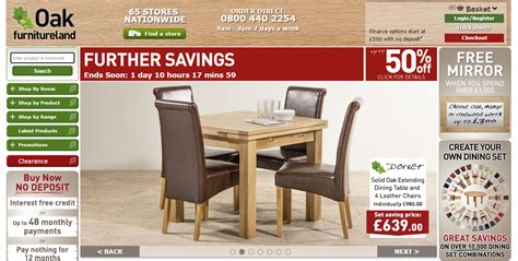 oak furniture land discount codes offers  delivery