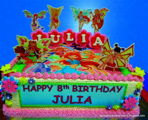 winxclub birthday cakes Winx Club Birthday Fairies 2D