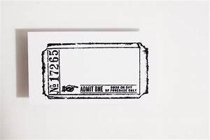 Blank Movie Ticket Template Blank Admit One Ticket Stamp Rubber Cling Mounted Stamp