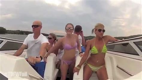 Boat Crash Video Turn Down For What by Turn Down For What Fail Bikini Girls Boat Crash Remix