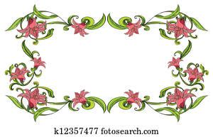 clipart  flowery   border  search