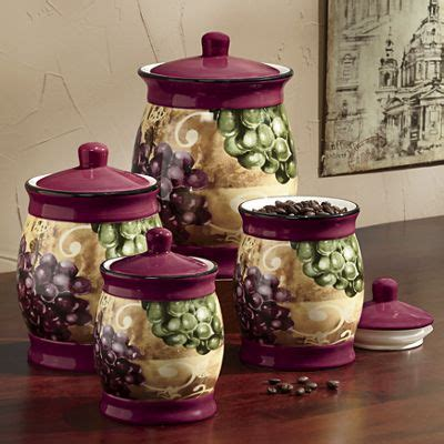 grape kitchen canisters grape vineyard canister set from seventh avenue di760781