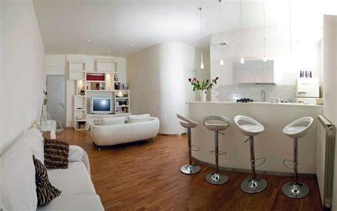 soggiorno con angolo cottura moderno progetto ristrutturazione appartamento idee