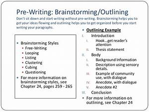 essay 1 lecture With prewriting outline template