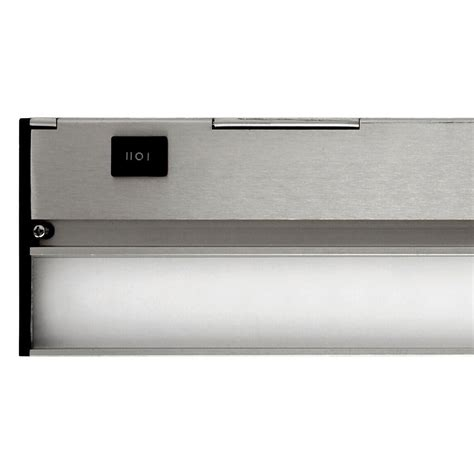 nicor slim 8 in led nickel dimmable cabinet light