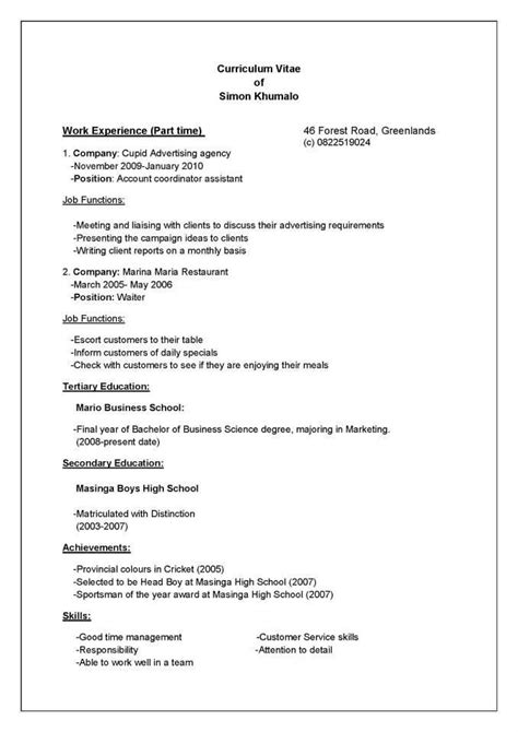 How To Do A Cv by How To Draw Up A Cv Letters Free Sle Letters