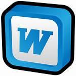 Word Microsoft Icons Icon Ms Cartoon 3d